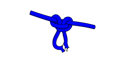 Alpine butterfly knot tied over core shot damaged rope