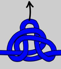 Tying alpine butterfly knot
