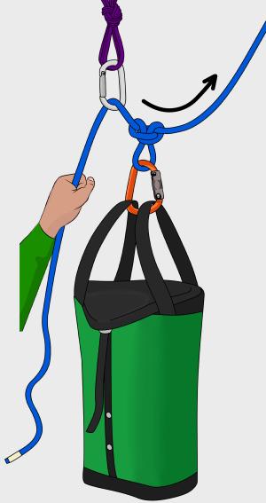 rock climbing haul bag