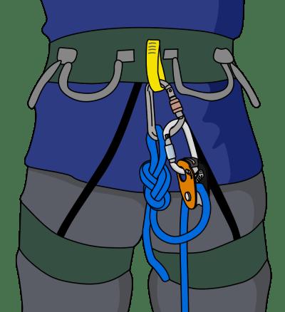 micro traxion climbing harness