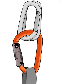 Carabiner brake abseil rappel no belay device