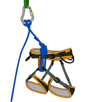 tie clovehitch with one hand