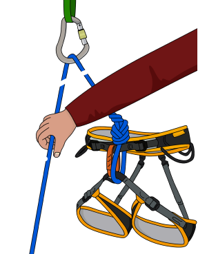 one handed clovehitch