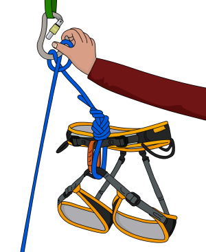 one handed clove hitch