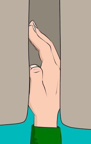 hand jam crack climbing