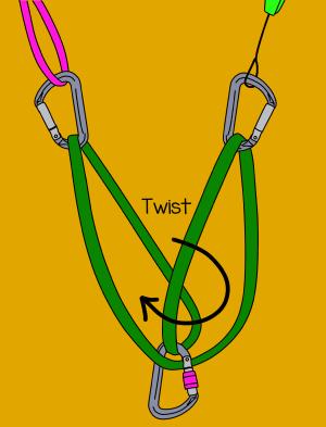 Sliding x climbing knot