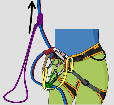 Extend a belay device