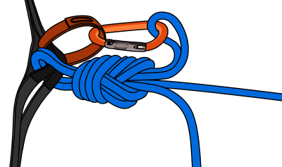 tie to middle of rope