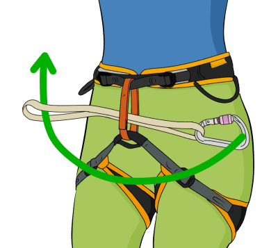 Girth hitch knot rock climbing
