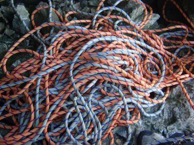 Half ropes climbing