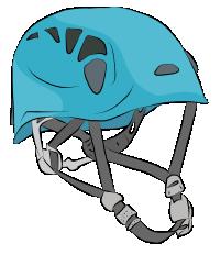 Rigid shell climbing helmets