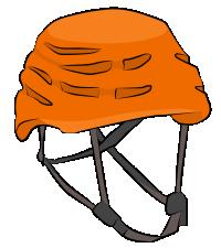 Foam shell climbing helmet