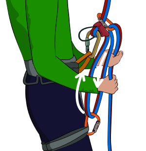 Increase friction rappeling increase friction when abseiling