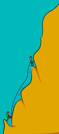 Climbing a multi-pitch