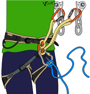 clovehitch rope to harness