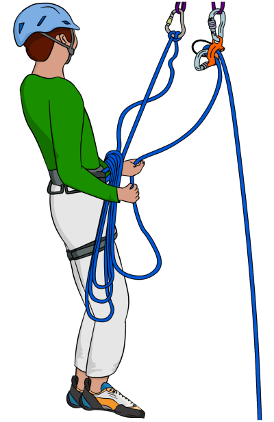 multi-pitch rope management