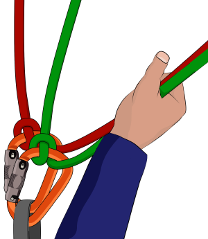 Munter hitch two rope belaying
