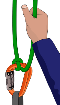 Munter hitch belaying skinny rope