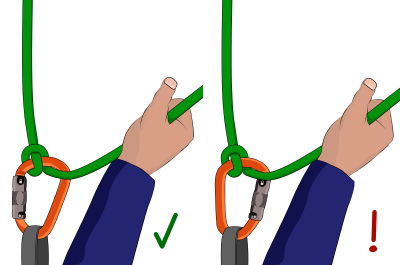 Italian hitch belaying