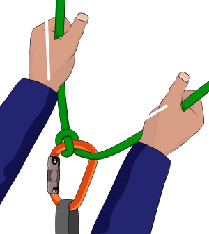Italian hitch belay