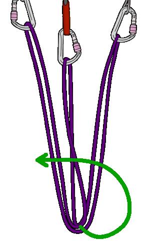 tie Overhand knot rock climbing