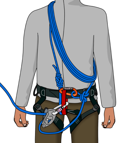 Simul climbing rope coils