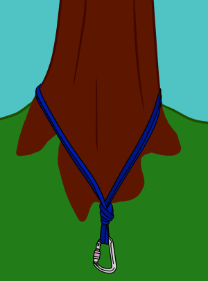 tie sling around tree