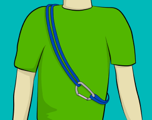 How to wear rock climbing slings over your shoulder
