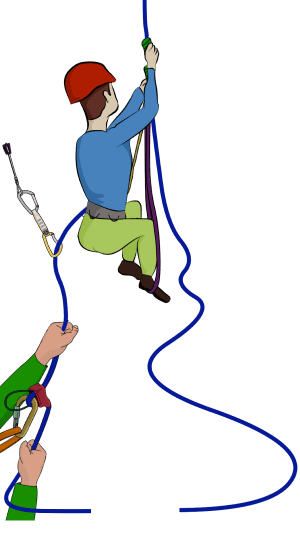 how to prusik up a climbing rope