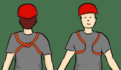 self rescue chest harness