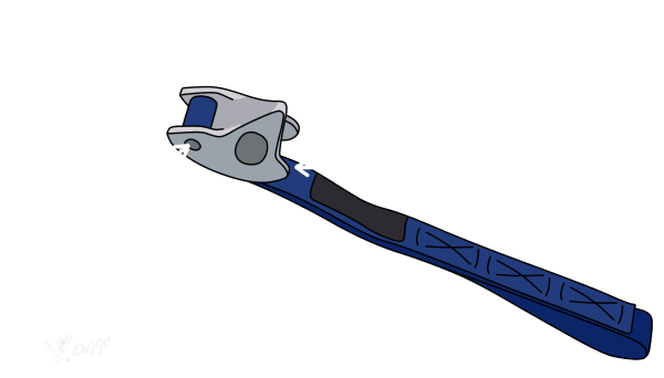 Parts of a tricam rock climbing