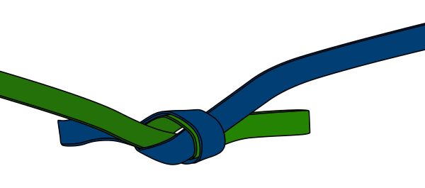 how to tie a tape knot