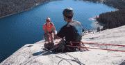 trad anchor climbing