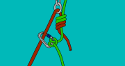 climbing rope abseil