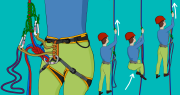 how to prusik up a rope