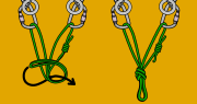 Sport climbing top rope anchor